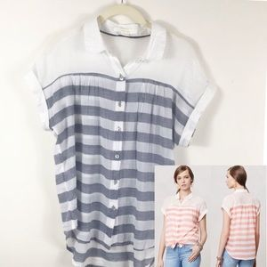 Anthropologie | Hei Hei Sheer Striped Blous